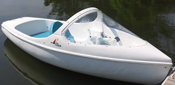 escapade electric pedal boat